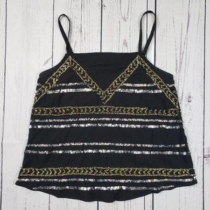 Forever 21 Sequined Camisole Size Small